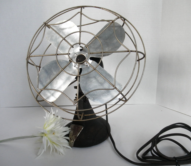 Vintage Eskimo Fan Model 1005j Black Amp Chrome Retro Electric