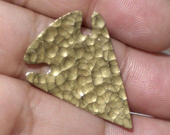 Hammered Texture Arrowhead Blanks 30mm x 21mm 26g Cutout Shape for Metalworking Soldering Blank Variety of Metals,