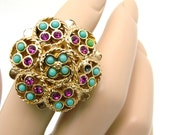 Vintage Sarah Coventry Ring, CEYLON From 1971