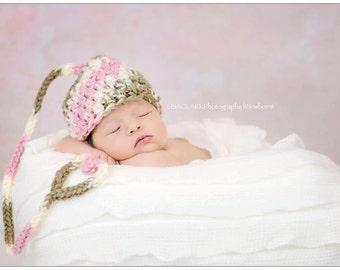 Newborn  Elf Hat,Heart Tail Hat,newborn baby hat,newborn hat,baby elf hat,Twin hats,twins,infant hat,baby boy hat,baby girl hat,photo prop