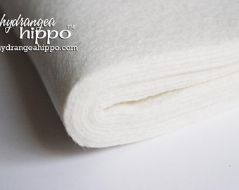 10 Sheets - IVORY - Wool Blend Felt - 12 x 18 inch sheets