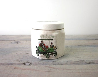 Frank Cooper Marmalade Jar with Vintage Cars
