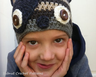 Critter Crochet Hat Pattern in Newborn, Baby, Toddler and Kids Sizes available to download instantly No.308