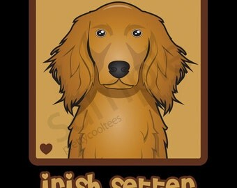 Irish Setter Cartoon Heart T-Shirt Tee - Men's, Women's Ladies, Short, Long Sleeve, Youth Kids