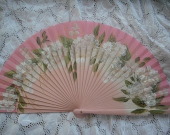 hand painted spanish fan FREE SHÌPPING