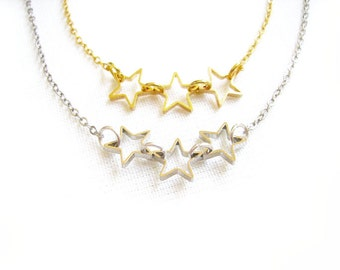 Star Necklace, Star Constellation Necklace, Simple Minimalist Necklace - Tiny Treasures Collection