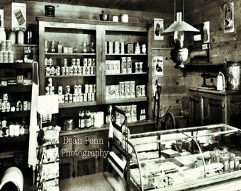 General Store, Home Decor, Wall Decor, Wall Art, Old General Store,  Black and White, Photography, Historic Photos