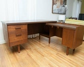 Mid Century Rare L shaped desk