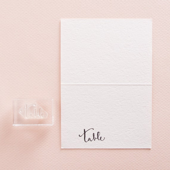 Calligraphy Table Stamp for Wedding Place Cards