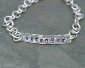 Stronger ID Bracelet, Sterling Silver Inspiration Bracelet