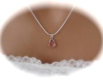 Pink Bridesmaid Necklace wedding jewelry bridal jewelry
