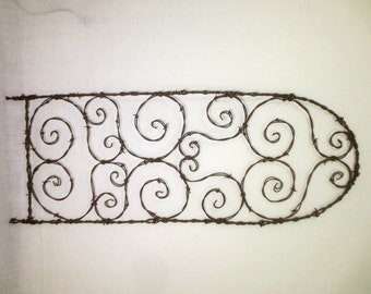 Twisted and Alluring Spirals Barbed Wire Trellis Made To Order