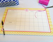 Calendar Note Pad or Desk Planner - Design Your Own