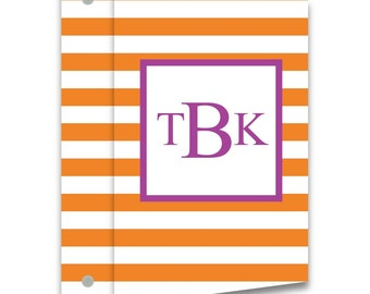 Personalized 3-Ring Binder - Stripes