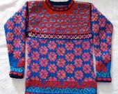 Knitting Pattern: Flowers Size Nine Years