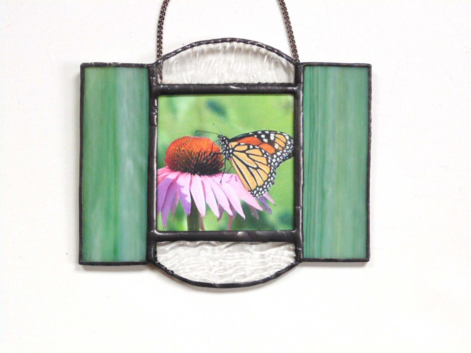 Wall Decor Under 20 : Stained glass flower wall art gift under nature butterfly