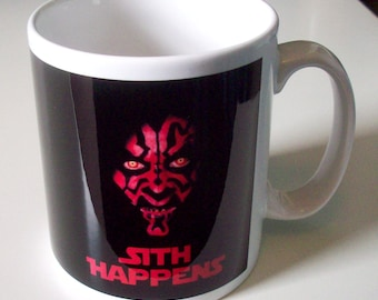 Sith Happens - Star Wars inspired mug