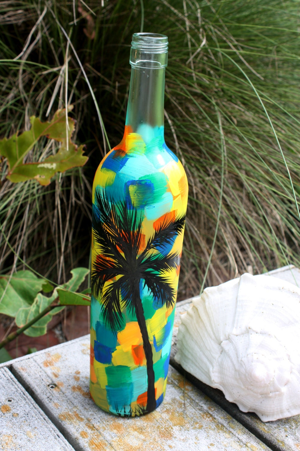 Hand painted wine bottle for Hand painted bottles