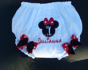 Custom Bloomers... TRADITIONAL MOUSE ..any color...any theme...diaper cover...dress up..matches tutu set