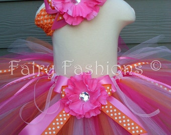 Custom tutus..BRIGHT BERRY TUTU and headpeice... 3,6,9,12,18,24 months and 2T,3T,4T,5T,6T birthday, photos,princess
