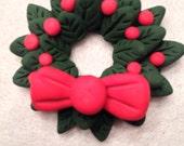 Polymer Clay Christmas Wreath Ornament
