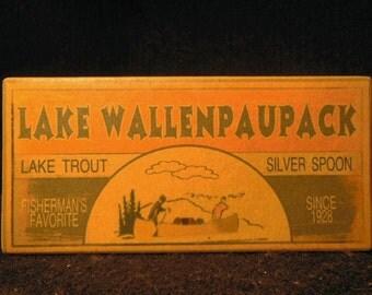 Lake Wallenpaupack Pennsylvania fishing lure boxes cabin decor