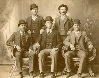 Butch Cassidy  and the Wild Bunch Fort Worth Texas Wild West Image Art