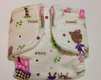 Baby Doll Diaper - Home Sweet Home - Size Small