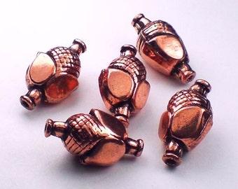 18mm Large Genuine Copper Beads Flower Bead 5 pcs. GC-212