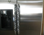 Refrigerator Handle Cover- Vinyl Black and White