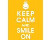 Keep Calm and SMILE ON (B) - Art Print (Featured in Goldfish) Keep Calm Art Prints and Posters