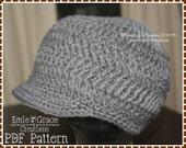 Newsboy Hat Crochet Pattern - KRISTI Adult - 506