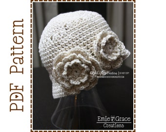 Crochet Hat Pattern - MELISSA Adult - 502