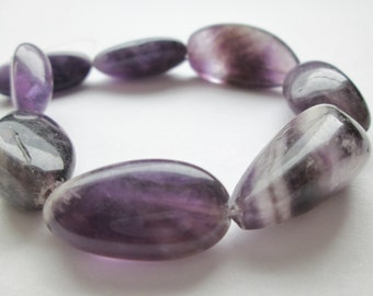Amethyst Oval Nuggets Large 30-35mm Half Strand(Item Number A0N35)