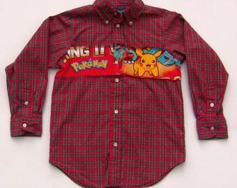 Upcycled Pokemon Shirt, Boy Size 5/6