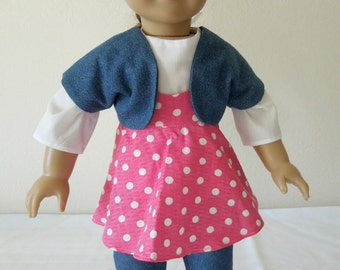 """American Girl Doll or 18"""" Doll Pink Play Set"""