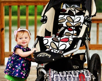 Personalized Reversible Stroller Pad Liner  BOB REVOLUTION  - - - Made to Order - - -
