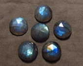 15 mm - 6 pcs - Gorgeous Nice Quality AAA Labradorite - Super Sparkle Rose Cut Faceted Round -Each Pcs Full Flashy Gorgeous Fire
