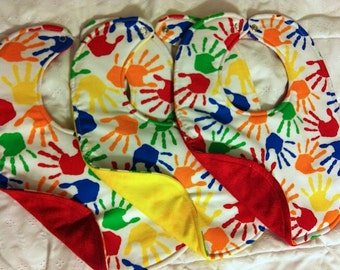 Little Hands waterproof reversible  Baby Bibs