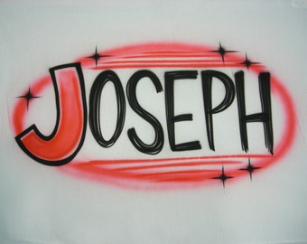 Airbrush Pillow Case Personalized Name Airbrushed Pillowcase
