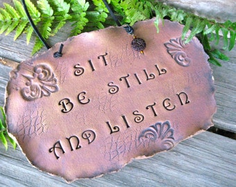 Sit Be Still And Listen Wall Hanging Organic