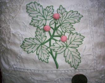 Cotton organdy applique 1930s