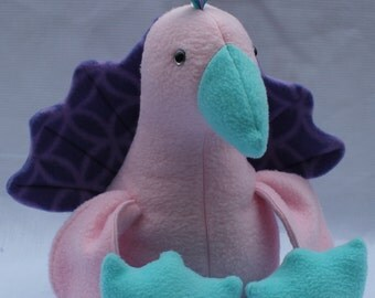 Pretty Pink Peacock Plush Toy