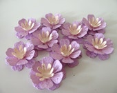 25 LOTUS BLOSSOM SHAPED Wildflower blend seed paper flowers