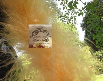 Marabou Boa Feathers Darker Peach