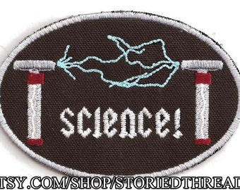 Tesla Coils Science Patch, Glow in the Dark