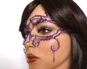 Purple vine masquerade mask, Masked ball mask, Masquerade ball mask, Purple mask, Womens mask, Halloween mask, Gothic mask, Gothic wedding