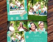 Folded 5x7 Dots Holiday Card - Photoshop PSD