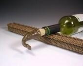 Wine bottle stopper cork, ceramic bottle stopper, pottery wine cork, bottle stopper with stoneware topper, hostess gift in brown glaze