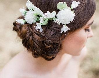 Elodie flower comb, #H906